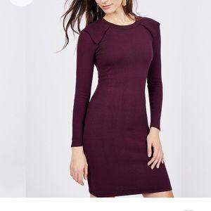 Noir Ruffle Shoulder Dress